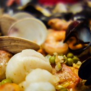 Best guest food photographer (photo by Louise Savoie) and best meal (Vicky's paella)